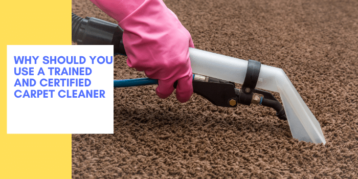 Why Should You Use A Trained And Certified Carpet Cleaner